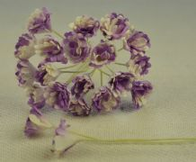 LILAC WHITE GYPSOPHILA / FORGET ME NOT Mulberry Paper Flowers